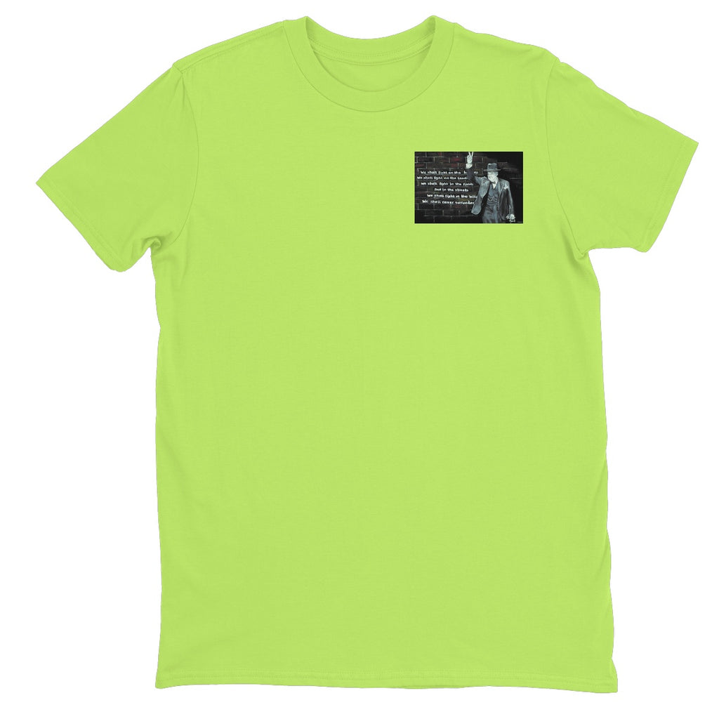 Churchill on Winning Unisex Neon T-Shirt