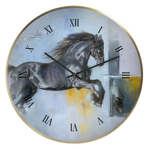 Thunder at Low Tide Wall Clock