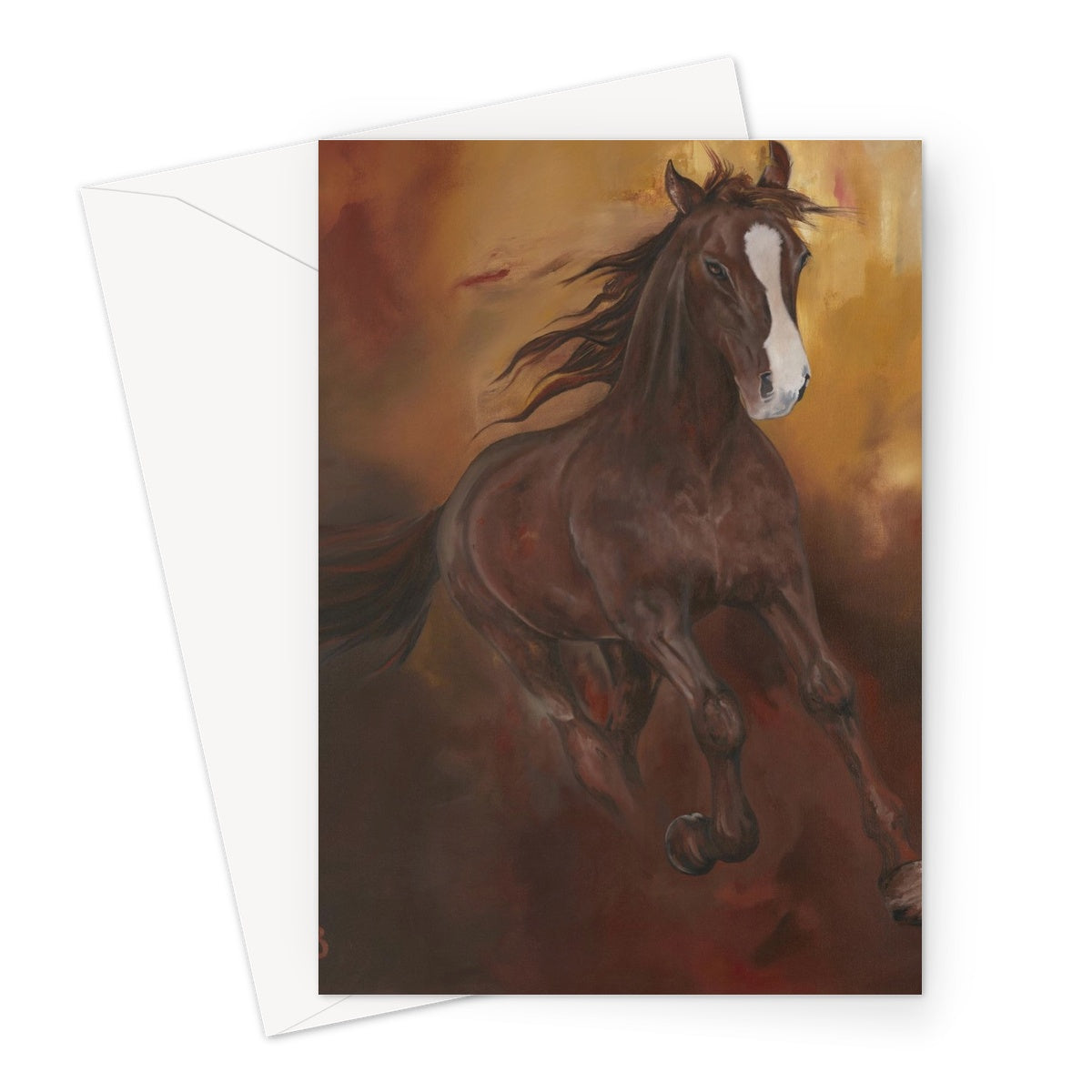Borne of Fire Greeting Card