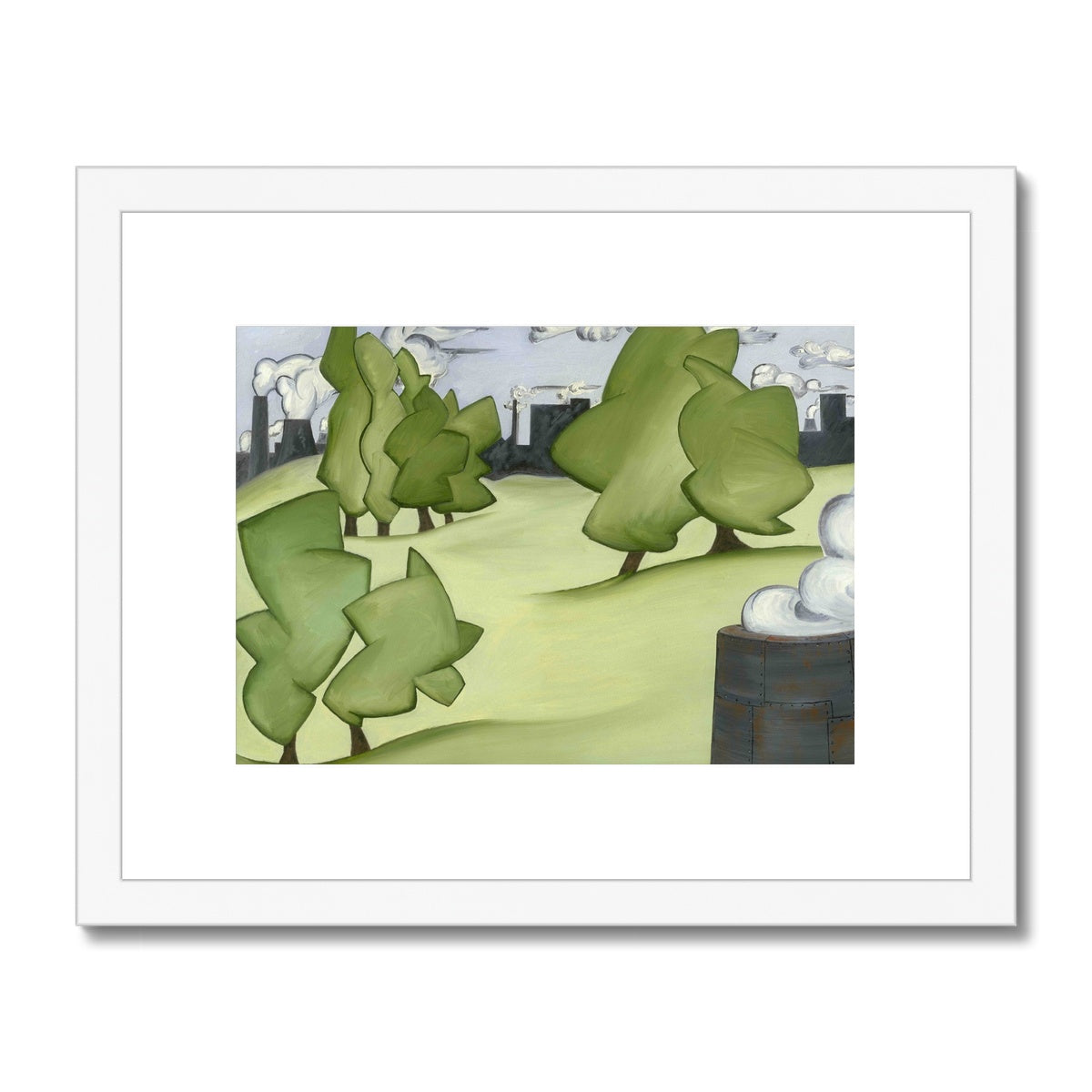 The Park Framed & Mounted Print
