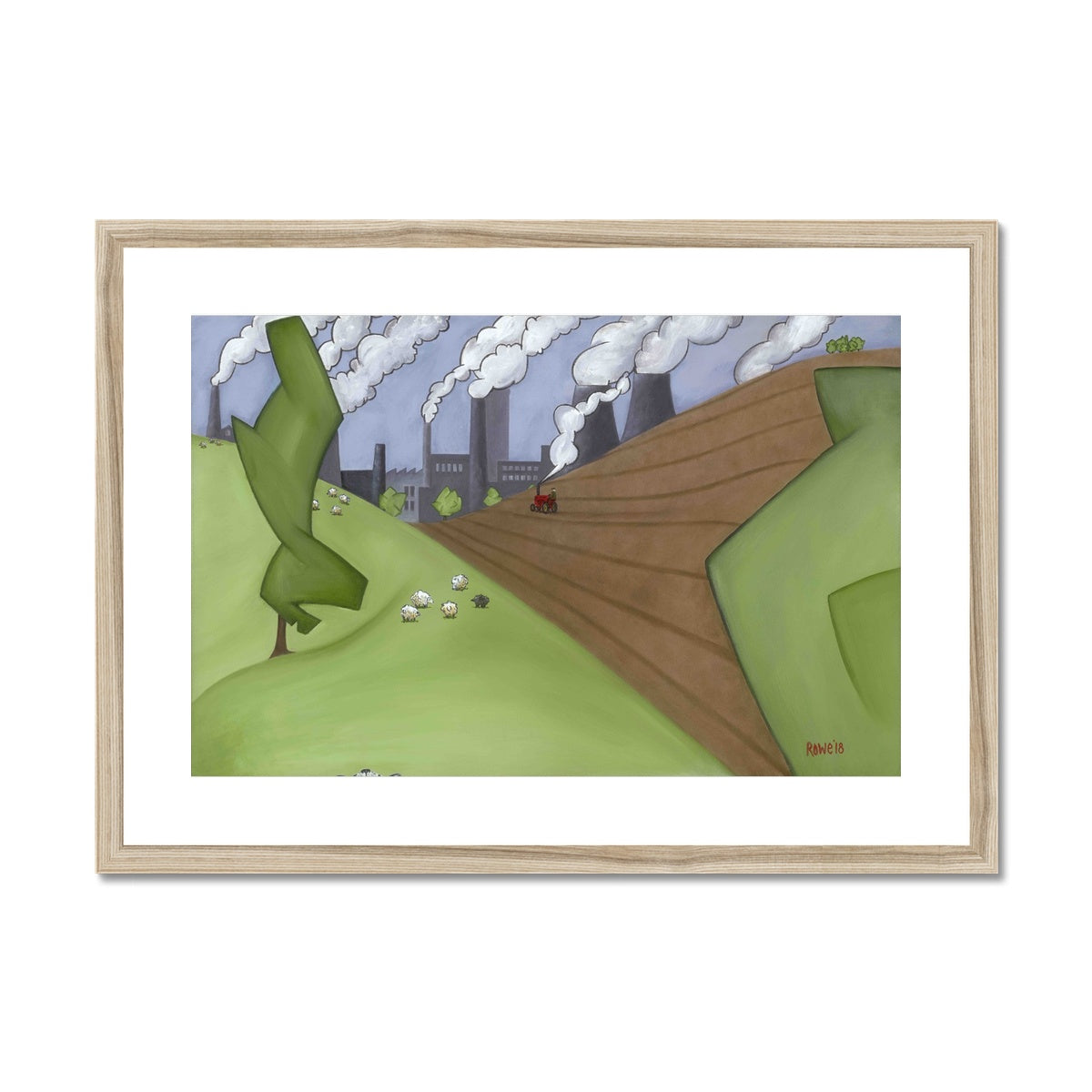 The Farm Framed & Mounted Print