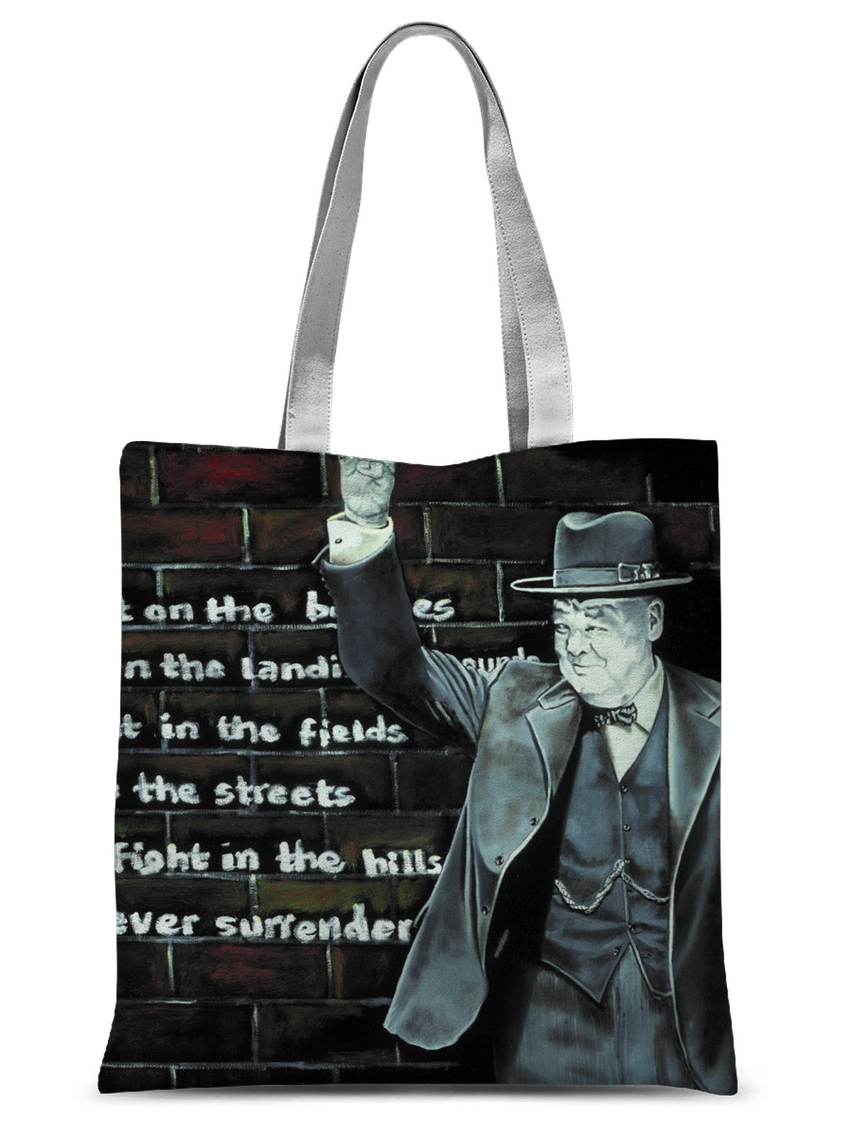 Churchill on Winning Sublimation Tote Bag