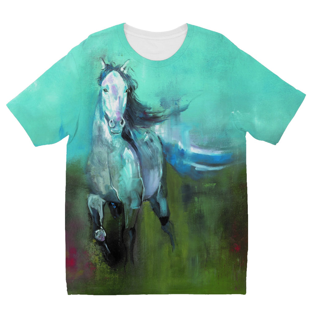 Storm in a Summer Field Kids' Sublimation T-Shirt