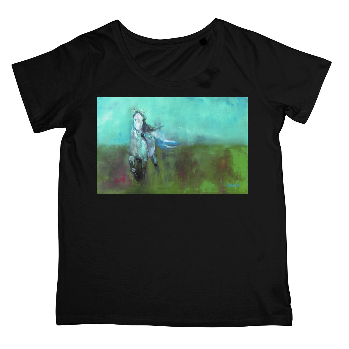 Storm in a Summer Field Women's Retail T-Shirt