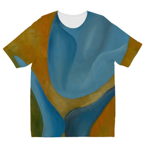 Femme Bleue 'Avoir de L'admiration' Kids' Sublimation T-Shirt