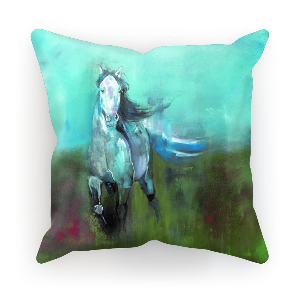 Storm in a Summer Field Cushion