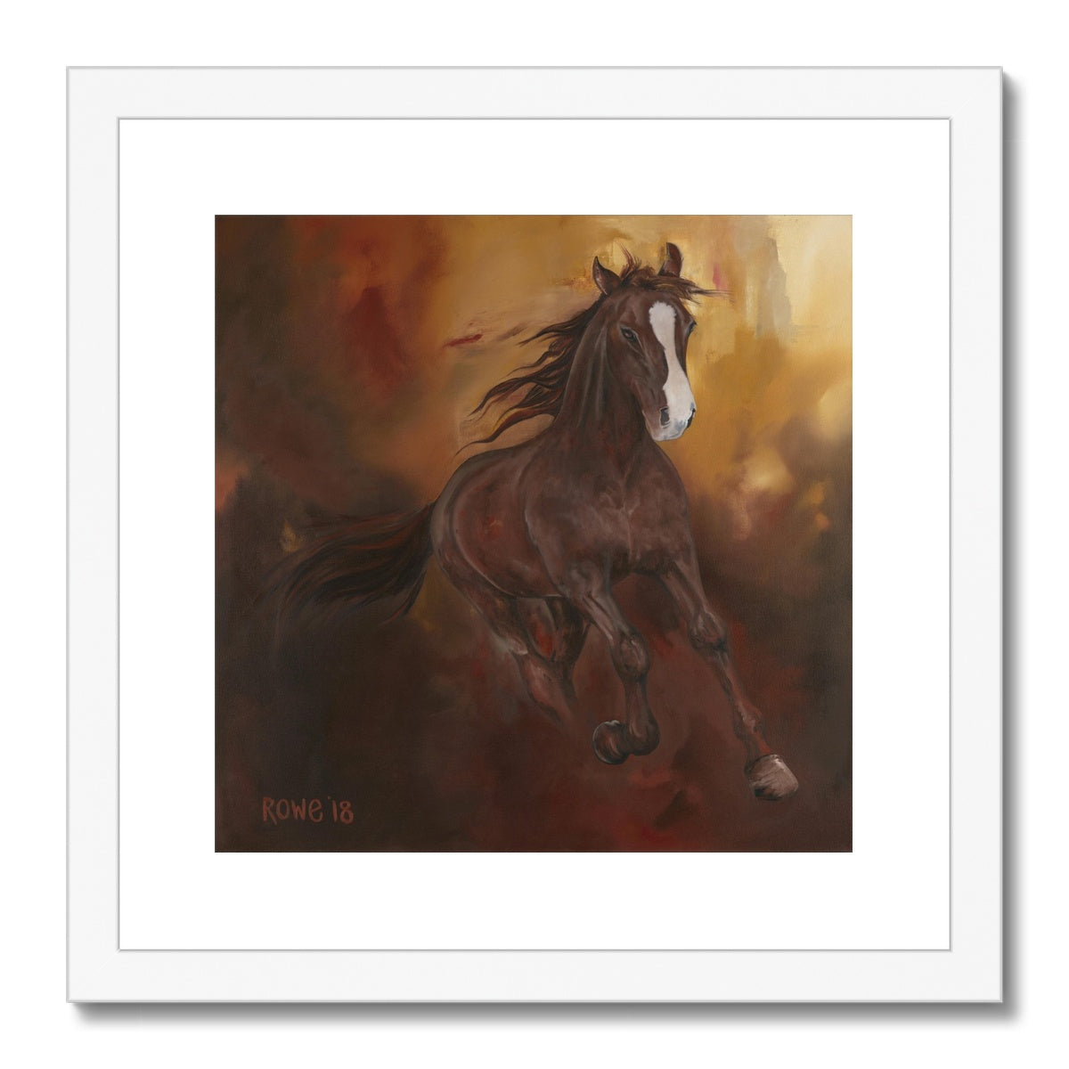 Borne of Fire Framed & Mounted Print