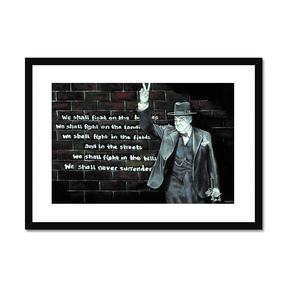 Churchill on Winning Framed & Mounted Print