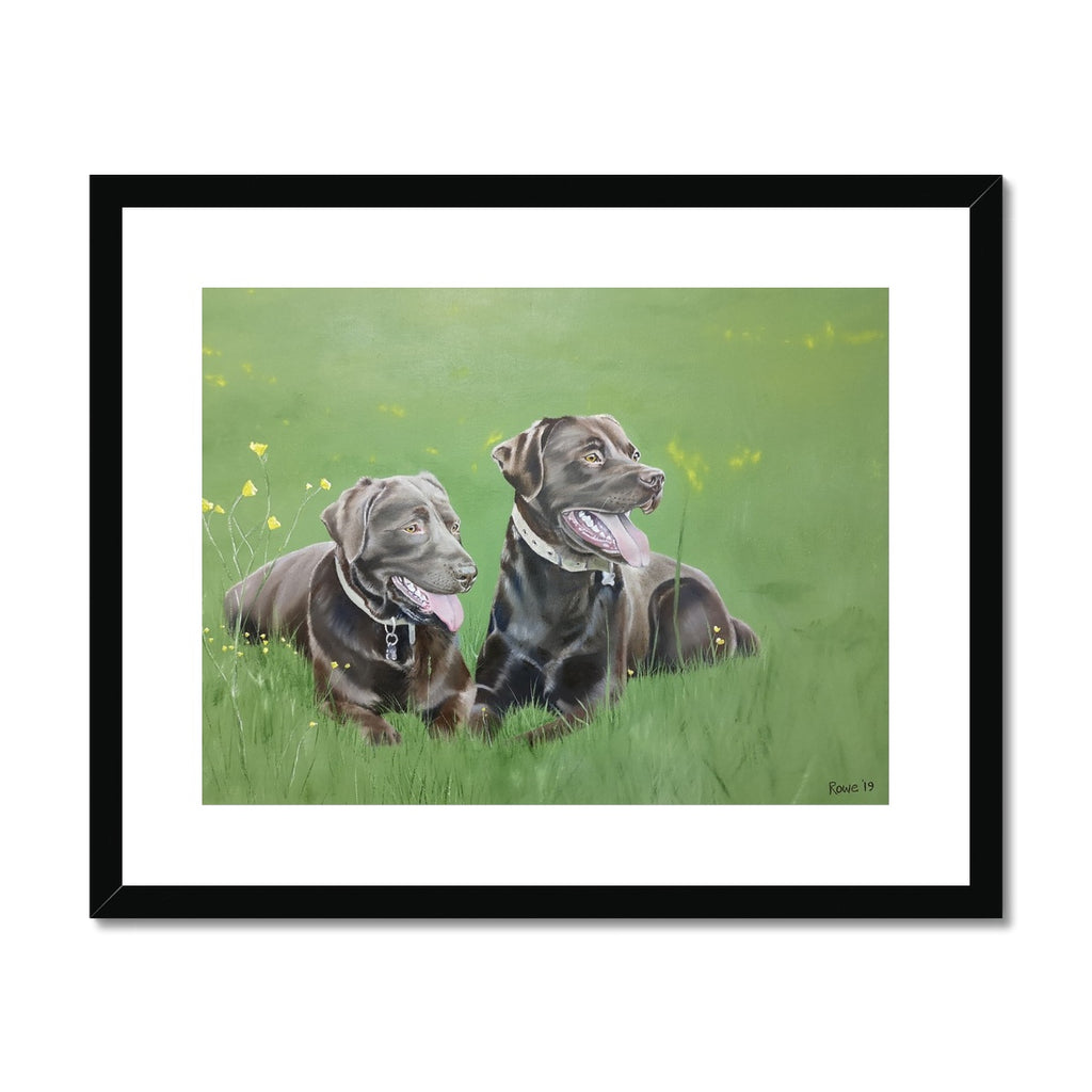 Lucy & Bentley Framed & Mounted Print