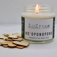 "Load image into Gallery viewer, Energy Candle with intention statement ""Ho'oponopono"