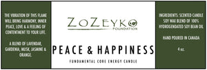 Label for Energy Candle for Peace and Happiness