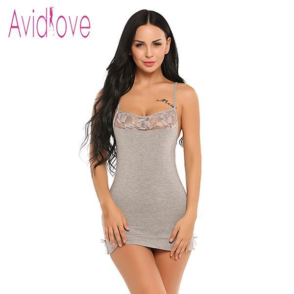 Sexy Lace Nightgown Cotton Nightdress