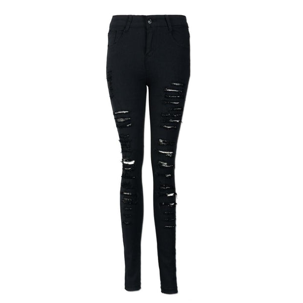 Soft Cotton Binding Side Elastic Waist Jeans