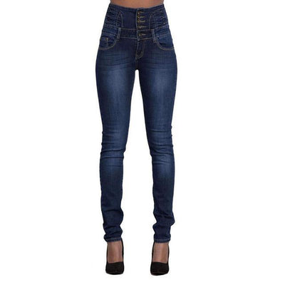 High Waist Slim Skinny Jeans