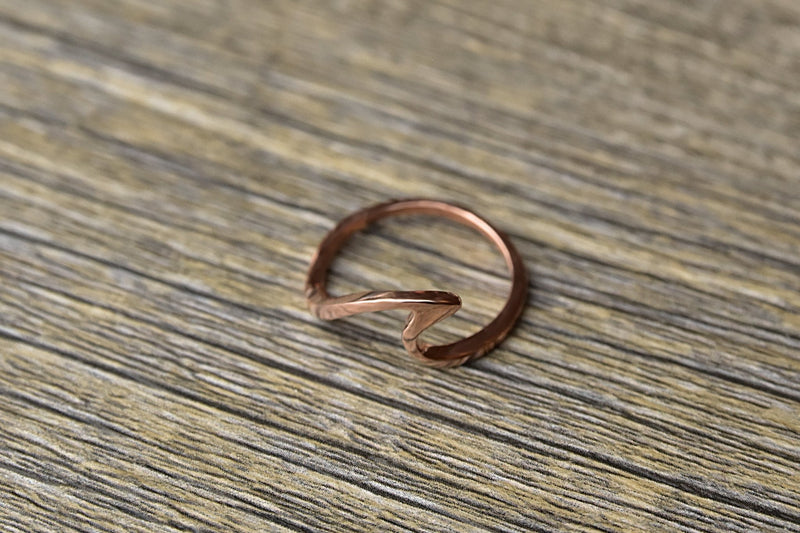 14k Rose Gold Plated Wave Ring - Kat's Collection