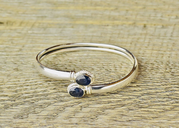 Adjustable Twist Blue Sapphire Bracelet - Kat's Collection
