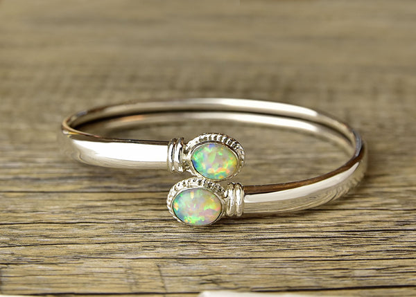 Adjustable Twist Opal Bracelet - Kat's Collection