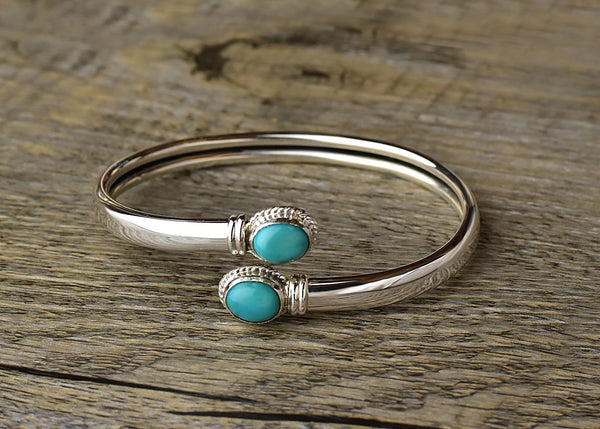 Adjustable Twist Turquoise Bracelet - Kat's Collection