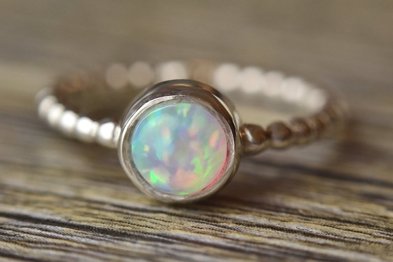Beaded Opal Ring - Kat's Collection