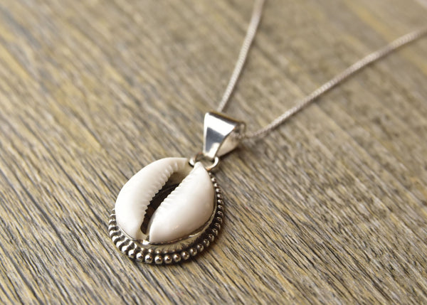 Cowrie Sterling Silver Pendant - Kat's Collection