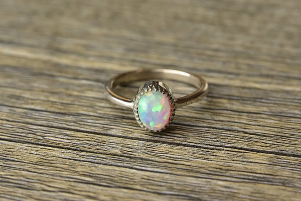 Dainty Opal Ring - Kat's Collection