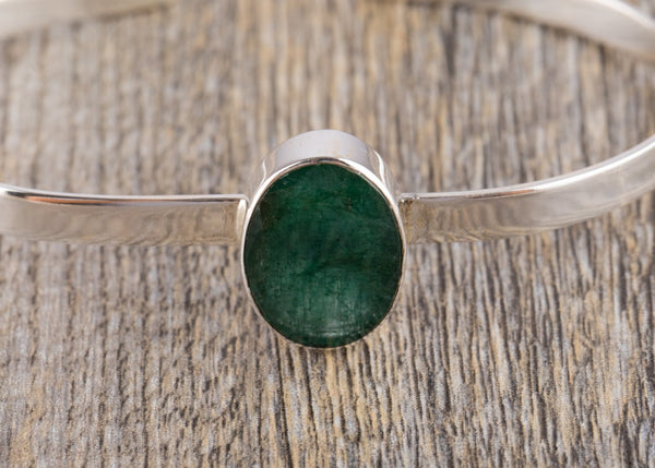 Emerald Silver Bracelet - Kat's Collection