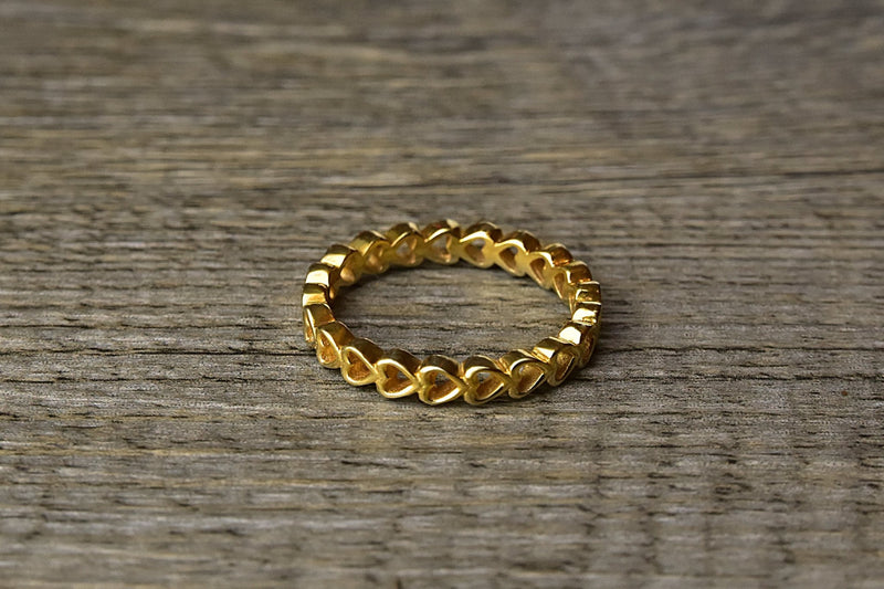 Gold Heart Stacker Ring - Kat's Collection