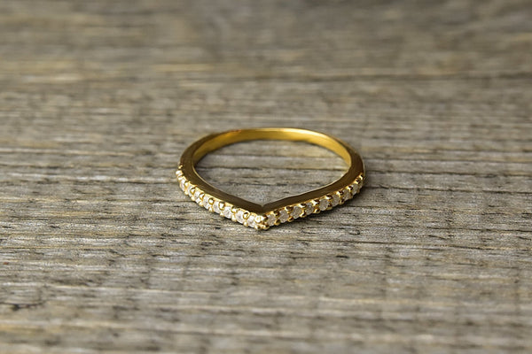 Gold Wishbone Ring - Kat's Collection