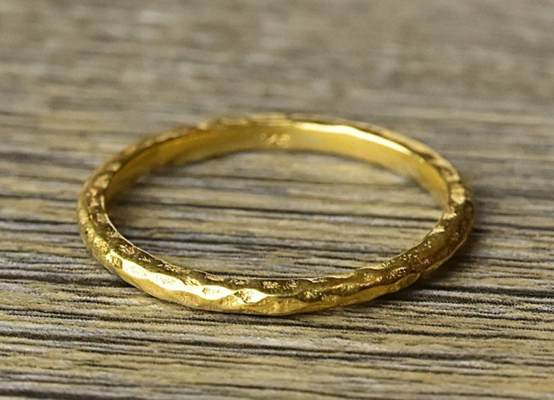 Hammered Stacker Gold Ring - Kat's Collection