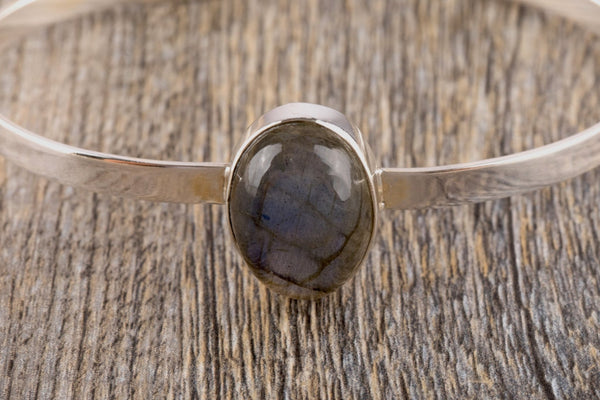 Labradorite Silver Bracelet - Kat's Collection