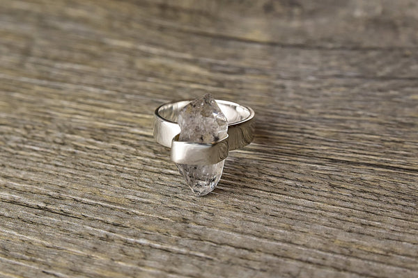Long Raw Herkimer Ring - Kat's Collection