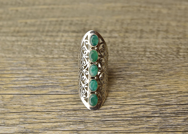 Multi Emerald Ring - Kat's Collection