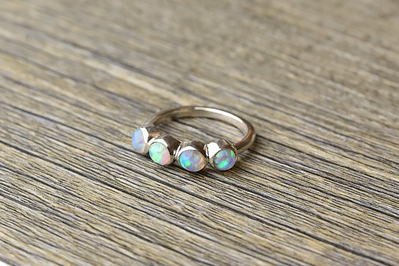 Multi Opal Sterling Silver Ring - Kat's Collection