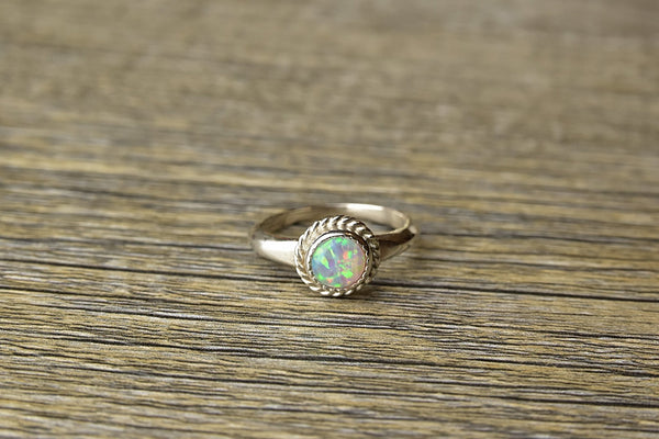 Natural Opal Twist Ring - Kat's Collection