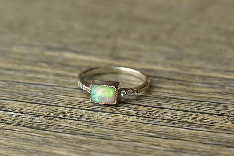 Oblong Opal Ring - Kat's Collection