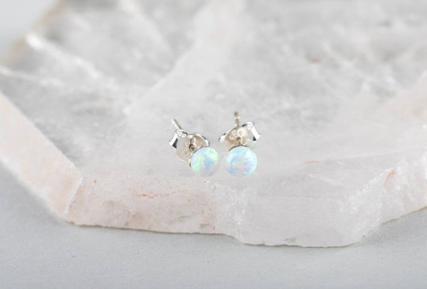 Opal Ball Earrings - Kat's Collection