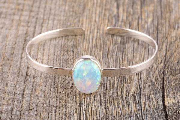 Opal Silver Bracelet - Kat's Collection