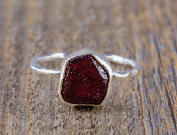 Raw Garnet Ring - Kat's Collection