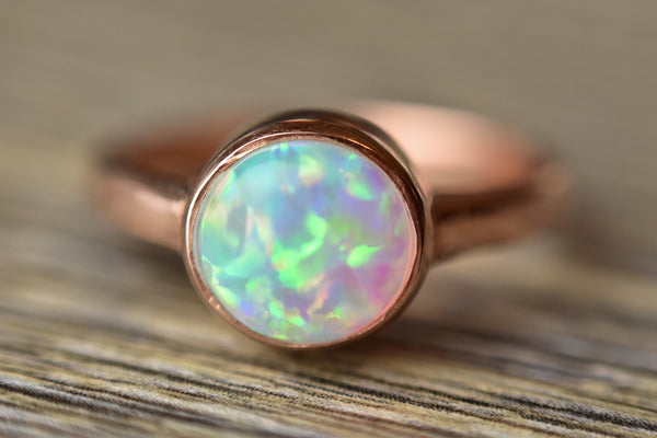 Rose Gold Opal Ring - Kat's Collection