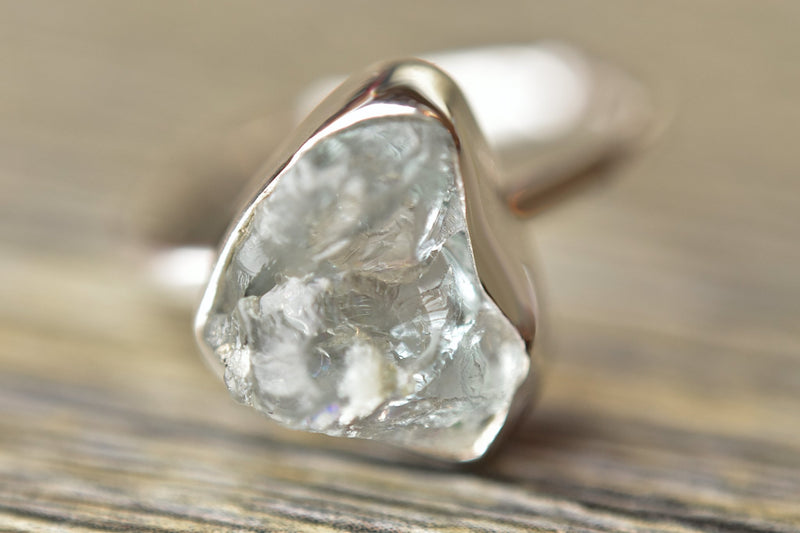 Rough Aquamarine Ring - Kat's Collection