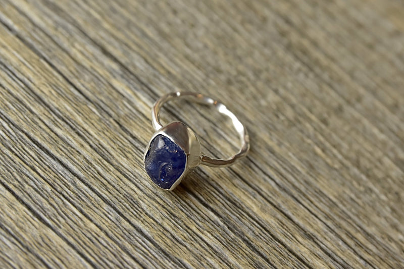 Rough Blue Sapphire Ring - Kat's Collection