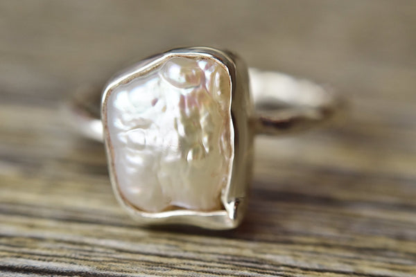 Rough Pearl Ring - Kat's Collection