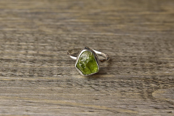 Rough Peridot Ring - Kat's Collection