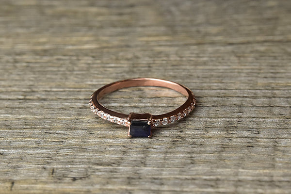 Sapphire Rose Gold Ring - Kat's Collection