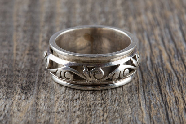 Sterling Silver Spin Ring - Kat's Collection