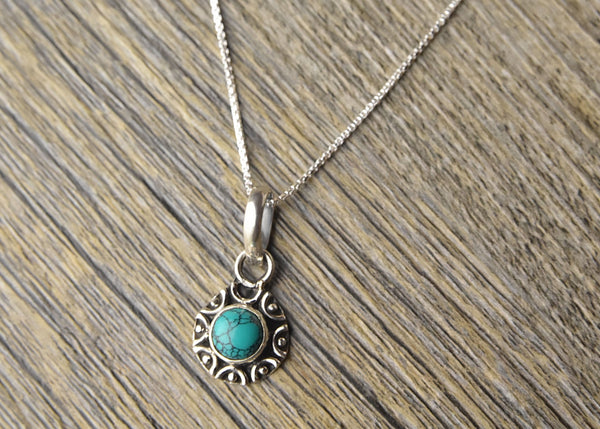 Tribal Turquoise Pendant - Kat's Collection