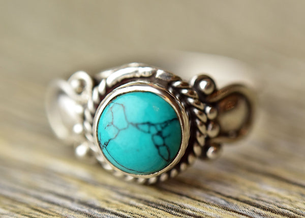 Tribal Turquoise Ring - Kat's Collection