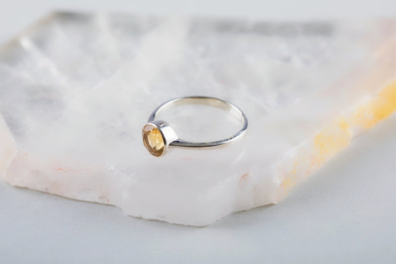 Yellow Topaz Ring - Kat's Collection