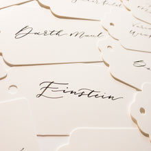 Load image into Gallery viewer, White & Black Handwritten Calligraphy  Place Card Tags - Sam's Little Studio, London UK