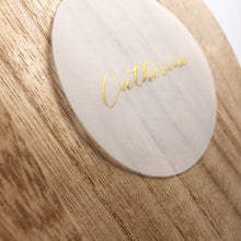 Load image into Gallery viewer, Handwritten Calligraphy Vellum Place Cards | Circle | Gold Ink - Sam's Little Studio